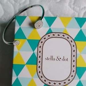 Stella & Dot Pave Disc Cuff Bracelet